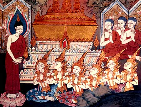The Buddha's Father was cremated